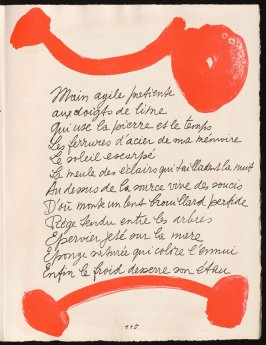 Untitled, design for page 115 of the book Le Chant des morts (The Song of the Dead) by Pierre Reverdy (Paris: Tériade Editeur, 1948)