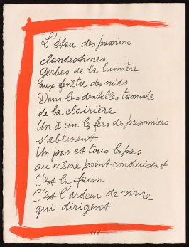 Untitled, design for page 116 of the book Le Chant des morts (The Song of the Dead) by Pierre Reverdy (Paris: Tériade Editeur, 1948)