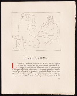 """Arachnée montrant son travail"" pg. 133, in the book Les Métamorphoses by Ovid (Lausanne: Albert Skira, 1931)."