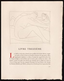 """Deux femmes nues. I"" pg. 311, in the book Les Métamorphoses by Ovid (Lausanne: Albert Skira, 1931)."