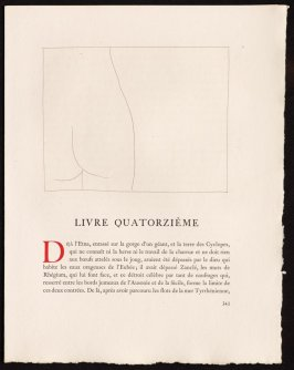 """Fragment de corps de femme"" pg. 343, in the book Les Métamorphoses by Ovid (Lausanne: Albert Skira, 1931)."