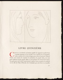 """Deux têtes de femmes"" pg. 371, in the book Les Métamorphoses by Ovid (Lausanne: Albert Skira, 1931)."