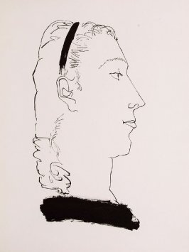 """ Illustration. Femme blonde de profil,"" in the book Góngora: Vingt poëmes by Luis de Góngora y Argote (Paris: Les Grands Peintres modernes et le Livre, 1948)."