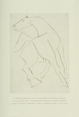 """L'achevé,"" Illustration X, pg. 53, in the book Chevaux de minuit by Hélène Barrone d'Oettingen (Roch Grey) (Paris: Iliazd, 1956)"