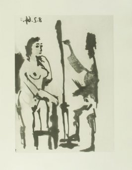 """Peintre et modèle accoudé"", pg. 35, in the book Sable mouvant (Quicksand) by Pierre Reverdy (Paris: Louis Broder, 1966)."