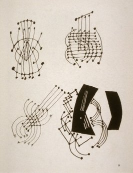 Plate N (Abstract studies of a guitar)
