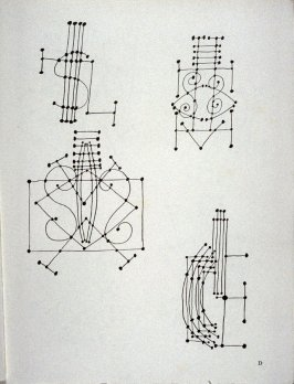 Plate D (Abstract studies of a guitar)