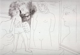 Sculpteur modelant (Sculptor Modeling), pl. 5 from the set of etchings accompanying the book, Le chef-d'oeuvre inconnu (The Unknown Masterpiece) by Honoré Balzac (Paris: Ambroise Vollard, 1931)