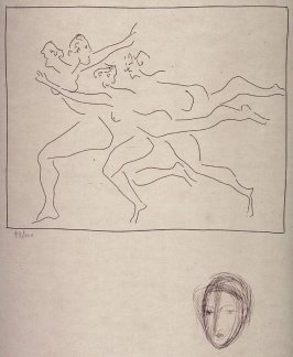 Quatre femmes en fuite (Four fleeing women), from the book Les Métamorphoses d'Ovide (The Metamorphoses of Ovid) (Lausanne: Albert Skira, 1931)