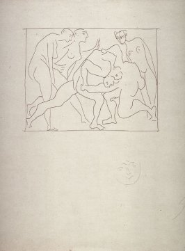 Deux lutteurs observés par trois femmes nues (Three nude women watching two wrestlers), from the book Les Métamorphoses d'Ovide (The Metamorphoses of Ovid) (Lausanne: Albert Skira, 1931)