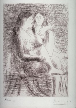 Deux nus assis (Two seated nudes)