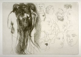 Trois nus debout (Three Standing Nudes), pl. 9 from the set of etchings accompanying the book, Le chef-d'oeuvre inconnu (The Unknown Masterpiece) by Honoré Balzac (Paris: Ambroise Vollard, 1931)
