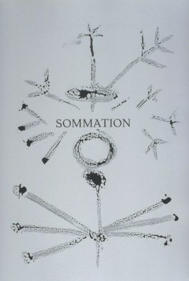 """""""Sommation"""" (Warning), pg. 97, in the book Corps perdu (Lost Body) by Aimé Césaire (Paris: Editions Fragrance, 1950)"""