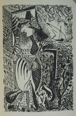 Femme surréaliste (Surrealist Woman), illustration on p. 27 of the book Les Yeux fertiles (The Fertile Eyes) by Paul Eluard (Paris: G. L. M. [Guy Lévis Mano], 1936)