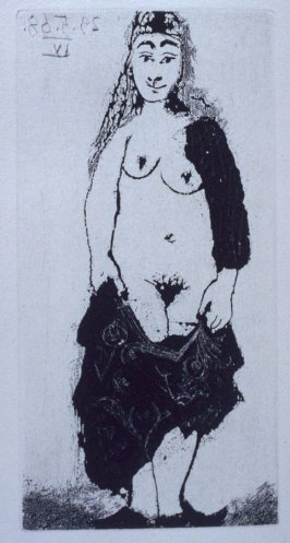 Maja à la robe déchirée (Woman in a Torn Dress), illustration XXXIX for page176 in the book La Célestine by Fernando de Rojas (Paris: Editions de l'Atelier Crommelynck, 1971)
