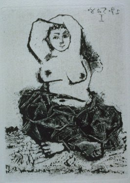 Odalisque, illustration XXXI for page 136 in the book La Célestine by Fernando de Rojas (Paris: Editions de l'Atelier Crommelynck, 1971)
