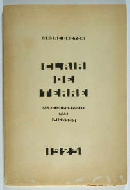 Clair de terre (Earth Light) by André Breton (Paris:André Breton [published by the author], 1923)