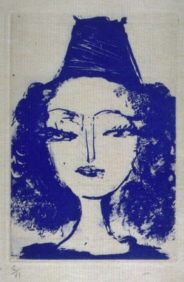 """Portrait de Nush Eluard,"" hors text with the book La barre d'appui (The Handrail) by Paul Eluard (Paris: Editions ""Cahiers d'Art,"" 1936)"
