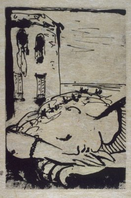 """3. Marie-Thérèse endormie au bord de la mer (Marie-Thérèse Sleeping at the Seaside),"" in the book La barre d'appui (The Handrail) by Paul Eluard (Paris: Editions ""Cahiers d'Art,"" 1936)"