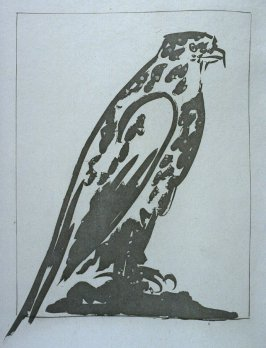 """L'épervier (Sparrow hawk),"" in the book Histoire naturelle: Picasso eaux-fortes originales pour les textes de Buffon (Picasso's Original Etchings for Buffon's Text) (Paris: Martin Fabiani, 1942)"
