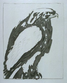 """L'aigle blanc (Bald Eagle),"" in the book Histoire naturelle: Picasso eaux-fortes originales pour les textes de Buffon (Picasso's Original Etchings for Buffon's Text) (Paris: Martin Fabiani, 1942)"