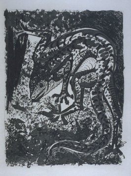 """Le lézard (The Lizard),"" in the book Histoire naturelle: Picasso eaux-fortes originales pour les textes de Buffon (Picasso's Original Etchings for Buffon's Text) (Paris: Martin Fabiani, 1942)"