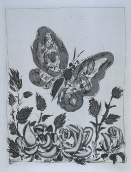 """Le papillon (The Butterfly),"" in the book Histoire naturelle: Picasso eaux-fortes originales pour les textes de Buffon (Picasso's Original Etchings for Buffon's Text) (Paris: Martin Fabiani, 1942)"