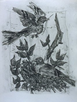 """Le chardonneret (The Goldfinch ),"" in the book Histoire naturelle: Picasso eaux-fortes originales pour les textes de Buffon (Picasso's Original Etchings for Buffon's Text) (Paris: Martin Fabiani, 1942)"