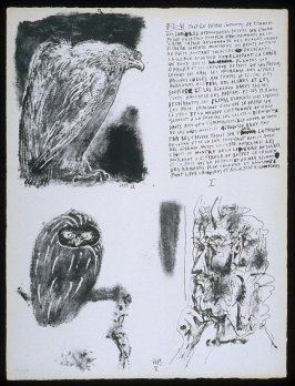 Untitled, pg. I, in the book Poèmes et lithographies by Pablo Picasso (Paris: Galerie Louise Leiris, 1954).