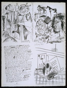 Untitled, pg. 4, in the book Poèmes et lithographies by Pablo Picasso (Paris: Galerie Louise Leiris, 1954).