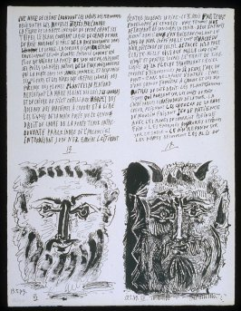 Untitled, pgs. 13-14, in the book Poèmes et lithographies by Pablo Picasso (Paris: Galerie Louise Leiris, 1954).