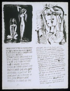 Untitled, pgs. 15-16, in the book Poèmes et lithographies by Pablo Picasso (Paris: Galerie Louise Leiris, 1954).