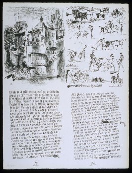 Untitled, pgs. 19-20, in the book Poèmes et lithographies by Pablo Picasso (Paris: Galerie Louise Leiris, 1954).