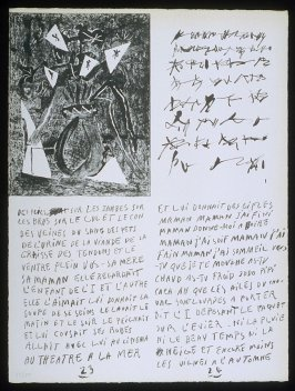 Untitled, pgs. 23-24, in the book Poèmes et lithographies by Pablo Picasso (Paris: Galerie Louise Leiris, 1954).