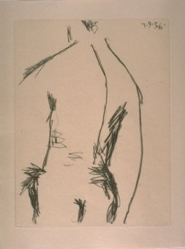 Dos d'homme (Back of a Man), loose plate in the suite of prints separate from the book, Chroniques des temps héroïques (Chronicle of Heroic Times), by Max Jacob (Paris: Louis Broder, 1956)