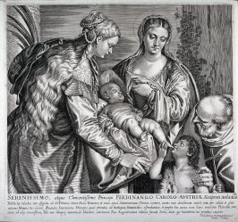 The Holy Family with the Young St. John and St. Catherine