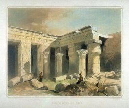 Temple at Medinet Abou, Thebes