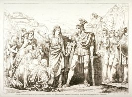 Veturia Disarming her son Coriolanus and Freeing Rome From Danger