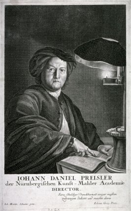 Portrait of Johann Daniel Preissler, director of the Academy of Painting in Nurenberg