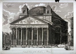 Outside View of the Pantheon or Rotunda
