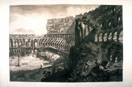 Veduta interna del Colosseo (Interior view of the Colosseum) from Vedute di Roma (Views of Rome)
