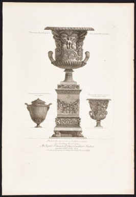 Piranesi print of vases