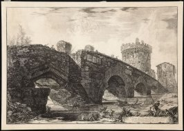 Views of Rome: The Ponte Lucano, with the Tomb of the Paulii