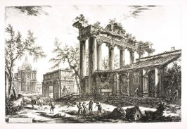 Altra Veduta degli avanzi del Pronao del Tempio della Concordia (Another view of the remains of the Pronaos of the Temple of Concord), from Vedute di Roma (Views of Rome)