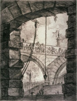 The Grand Piazza (A Lofty Arch with a Vista to an Arcade), pl. IV from the series Carceri