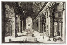 Views of Rome: Veduta interna della Basilica di S. Pietro in Vaticano (Interior of the Basilica of S. Peter)