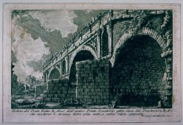 Veduta del Ponte Rotto (View of the Ponte Rotto [the Broken Bridge]), from Le Antichità Romane (Roman Antiquities)