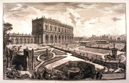 Veduta della Villa dell'Emo Sign. Card. Alessandro Albani fuori di Porta Salaria (View of the villa of his Eminence Cardinal Alessandro Albani, outside Porta Salaria) from Vedute di Roma (Views of Rome)