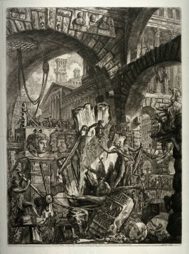 The Man on the Rack, plate II from the series Carceri d'invenzione (Imaginary Prisons)