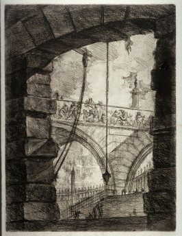 The Grand Piazza, plate IV, from the series Carceri d'invenzione (Imaginary Prisons)